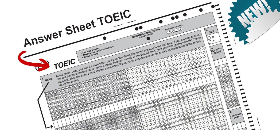 answer sheet toeic